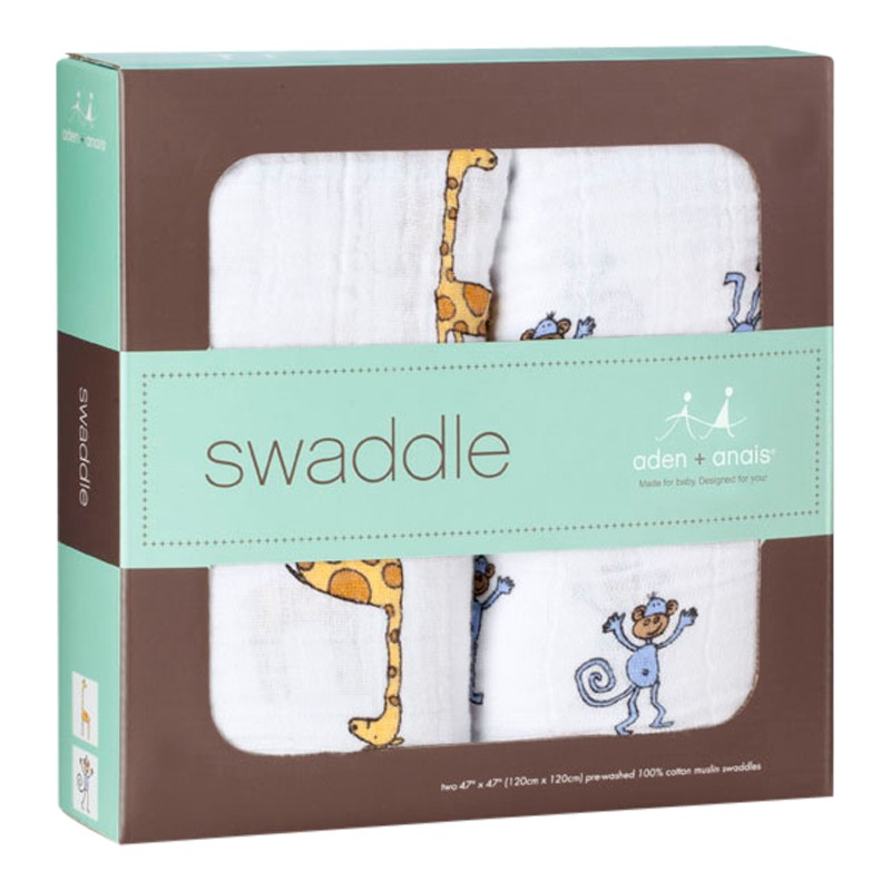 Aden & Anais Jungle Jam Swaddle Baby Blankets