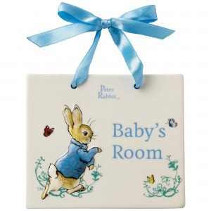 Beatrix Potter Peter Rabbit Baby's Room Door Plaque