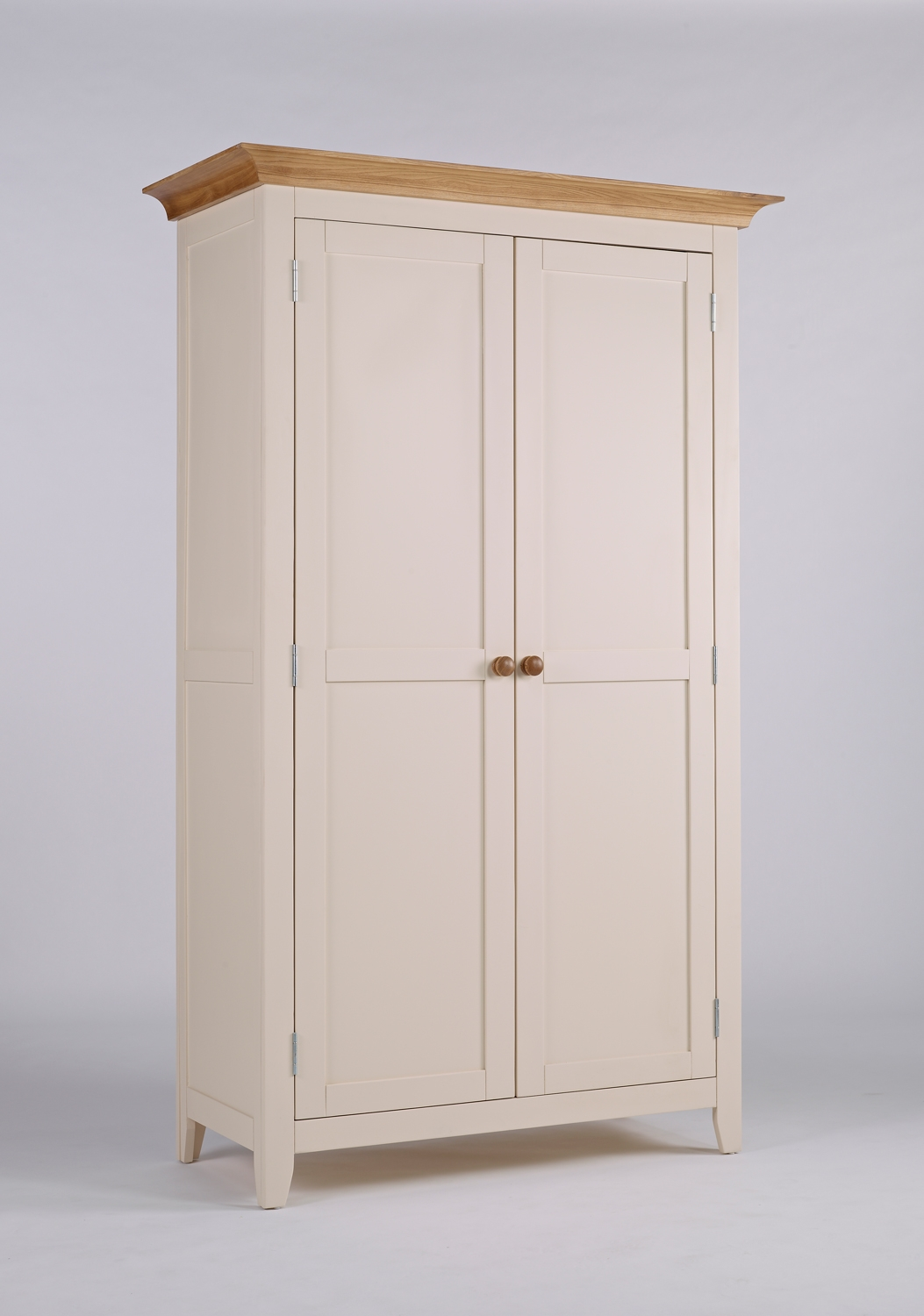 Camden Painted Pine & Ash 2 Door Wardrobe