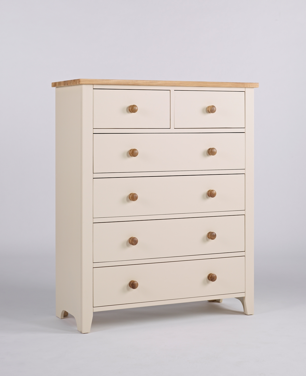 Camden Painted Pine & Ash 2 over 4 Chest of Drawers