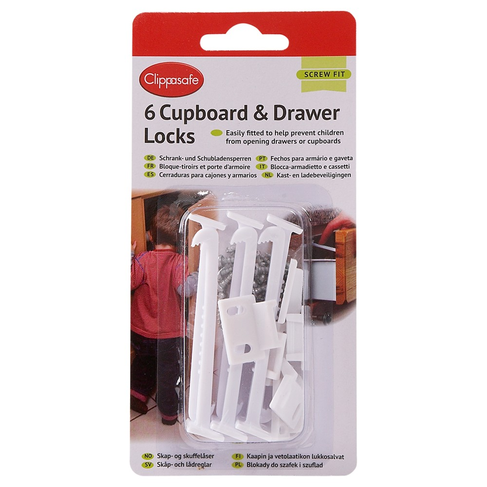 Clippasafe Cupboard & Drawer Locks