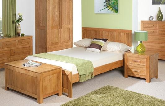 Cuba Solid Oak Bed - Single