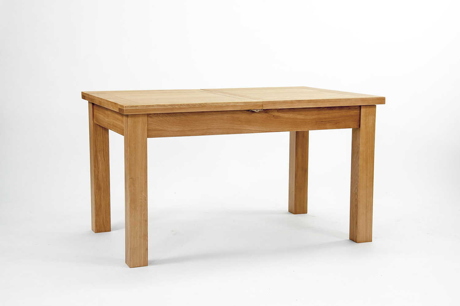 Devon oak extending dining table 140cm to 200cm by oak for Best dining tables uk