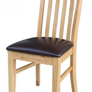 Devon Oak Lancaster Slatted Dining Chairs - Pair