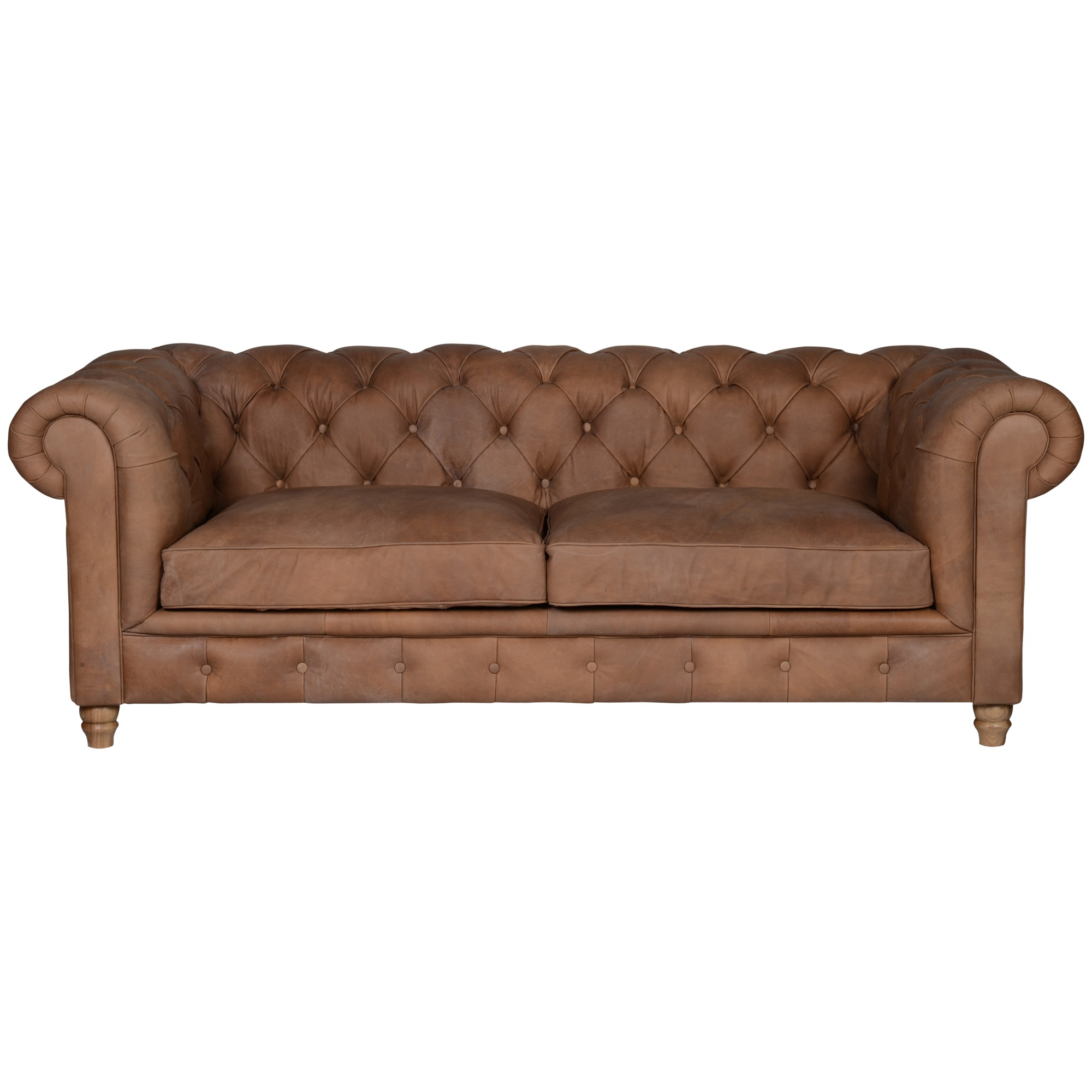 Halo Earle Large Chesterfield Leather Sofa
