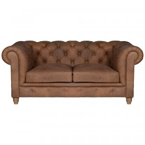 Halo Earle Medium Chesterfield Leather Sofa