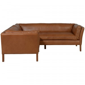 Halo Groucho Aniline Leather Small Corner Sofa