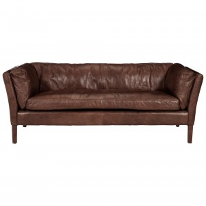Halo Groucho Medium Leather Sofa