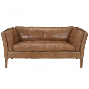 Halo Groucho Small Aniline Leather Sofa