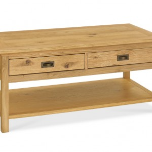 Hampshire Oak Coffee Table with Drawers (Cof Table D)