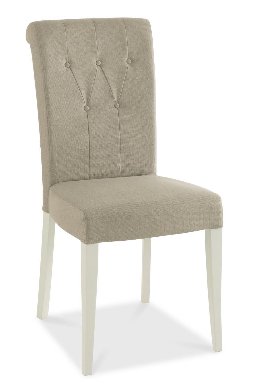 Hampstead Soft Grey Upholstered Rollback Dining Chair - pair (Hampstead Soft Grey and Oak Upholstered Rollback Dining Chair - pair)