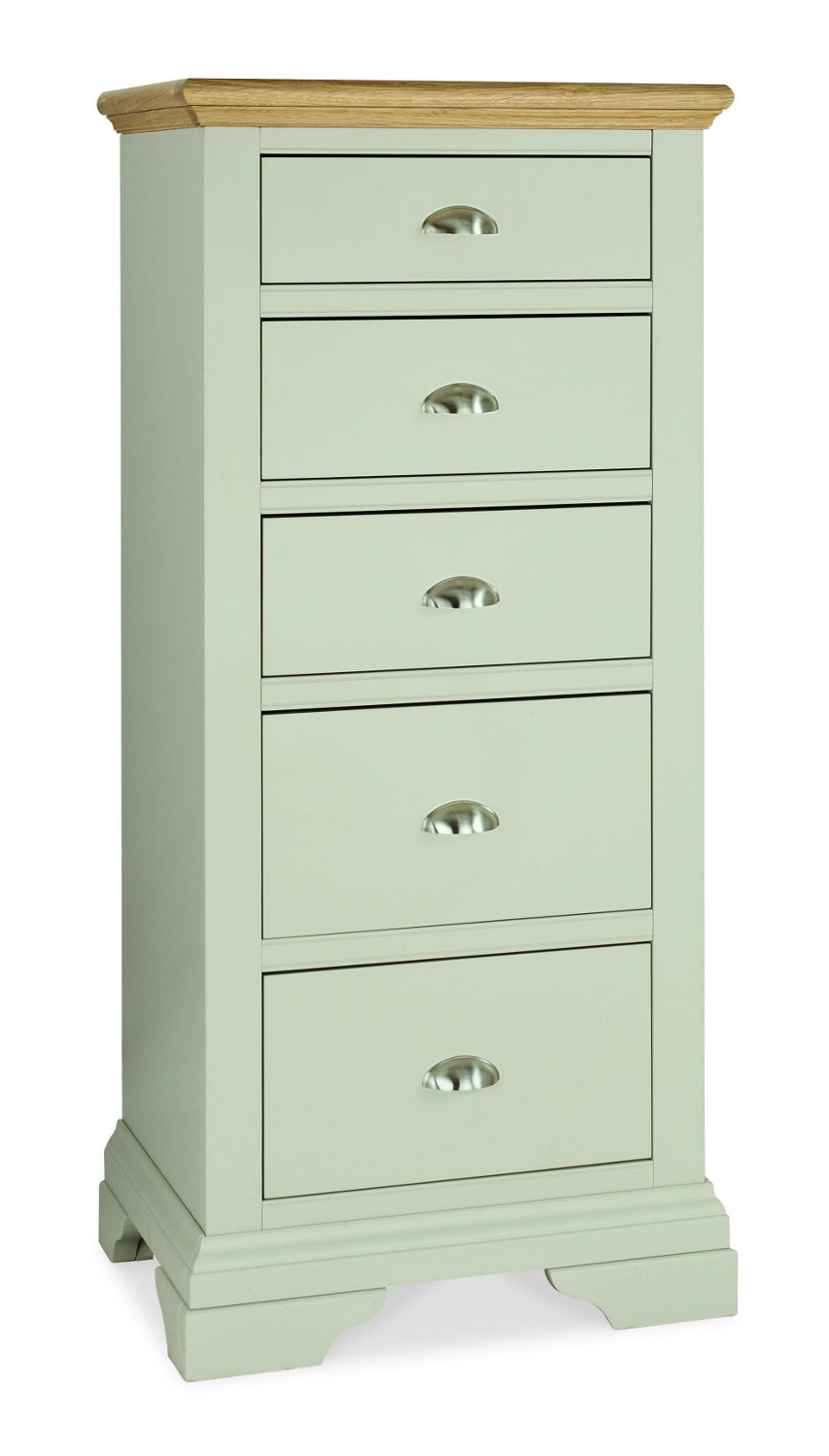 Hampstead Soft Grey and Oak 5 Drawer Tall Chest (Hampstead Soft Grey and Oak 5 Drawer Tall Chest)