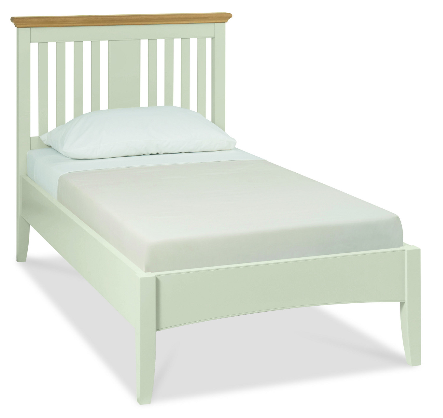 Hampstead Soft Grey and Oak Bedstead - Multiple Sizes (Hampstead Soft Grey and Oak Bedstead - Single)