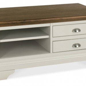Hampstead Soft Grey and Walnut Coffee Table (Hampstead Soft Grey and Walnut Coffee Table)