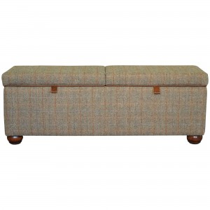 Harris Tweed Lewis Storage Bench