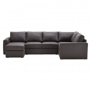 House by John Lewis Finlay II LHF/RHF Corner Chaise End Leather Sofa
