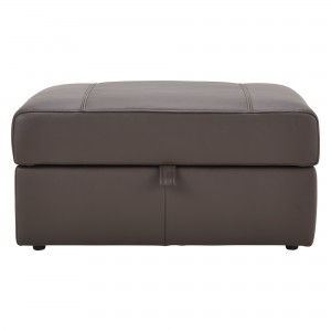 House by John Lewis Finlay II Leather Storage Footstool