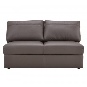 House by John Lewis Finlay II Medium Armless Leather Sofa Unit