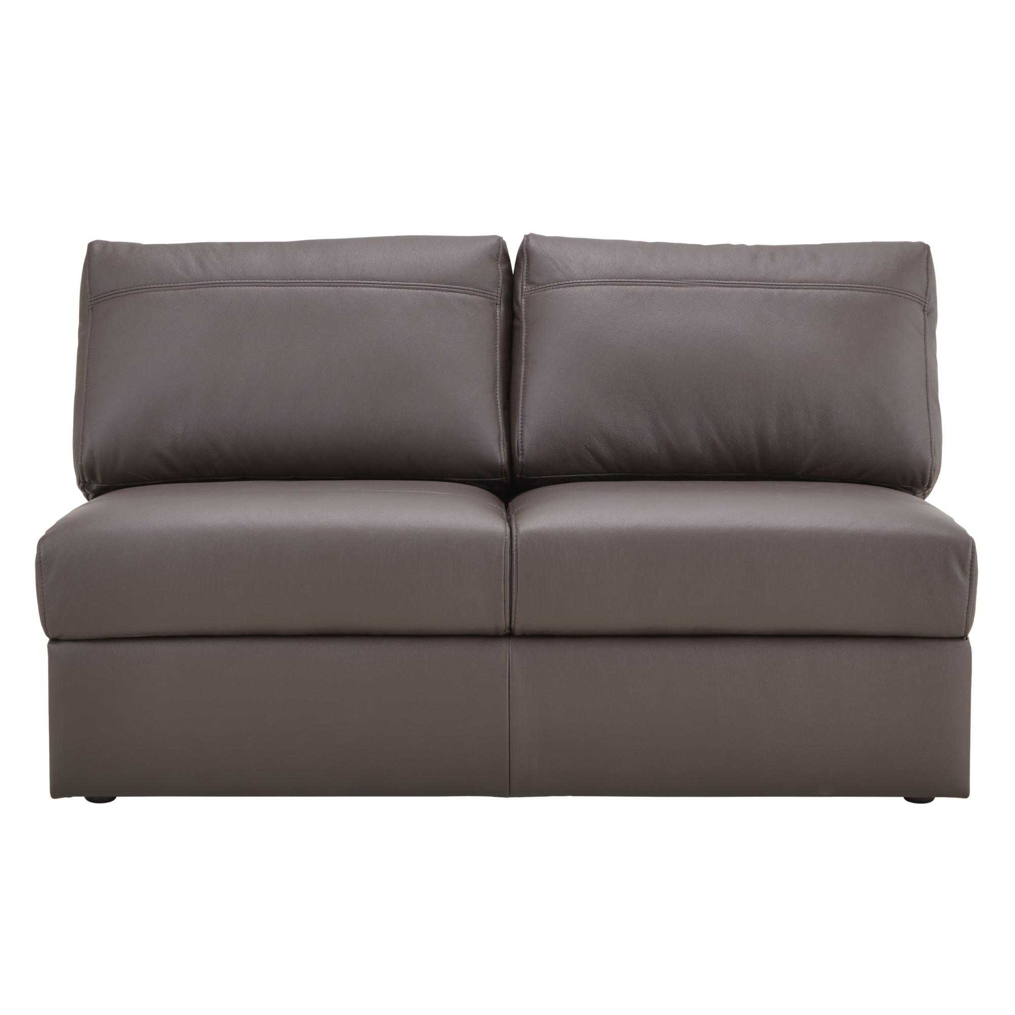 Armless Leather Sofa New Standard Armless Leather Sofa Hivemodern