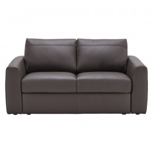 House by John Lewis Finlay II Small Leather Sofa
