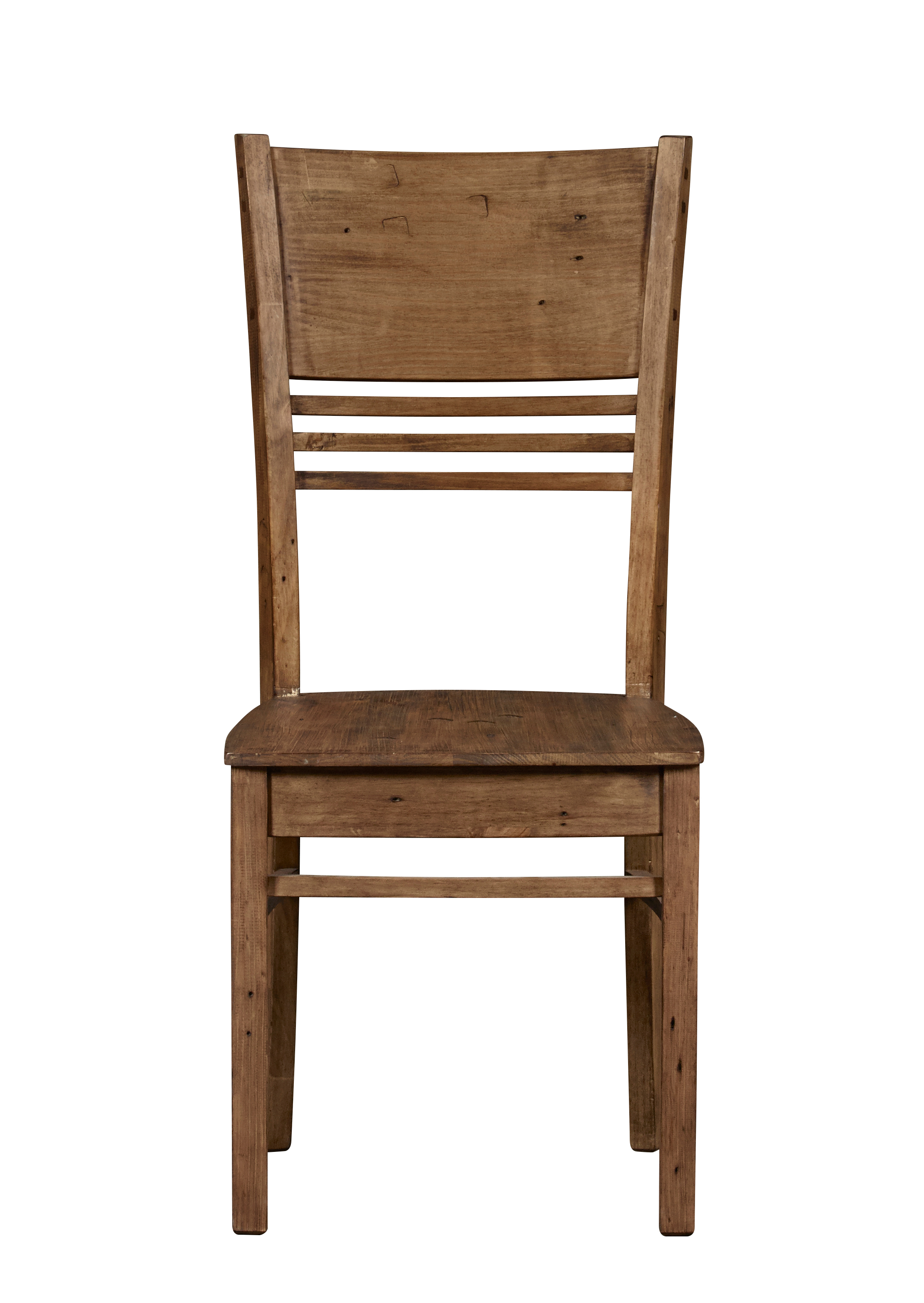 Industrial Pine Wooden Seat Dining Chair - pair