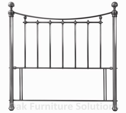 Isabelle Antique Nickel Headboard - Multiple Sizes (135cm - Double)