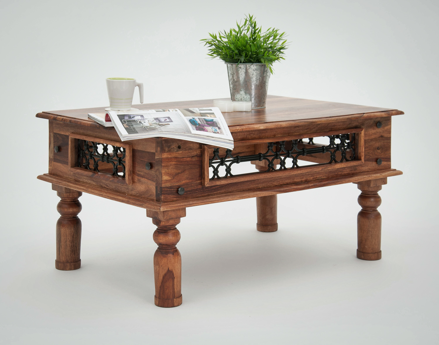 Jali Coffee Table - Various Sizes  (Jali Coffee Table 3 - 110 x 60 x 46cm)