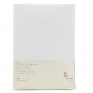 John Lewis Anti-Allergy Cot Mattress Protector