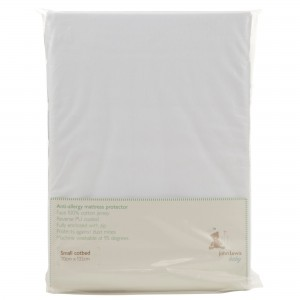 John Lewis Anti-Allergy Small Cotbed Mattress Protector