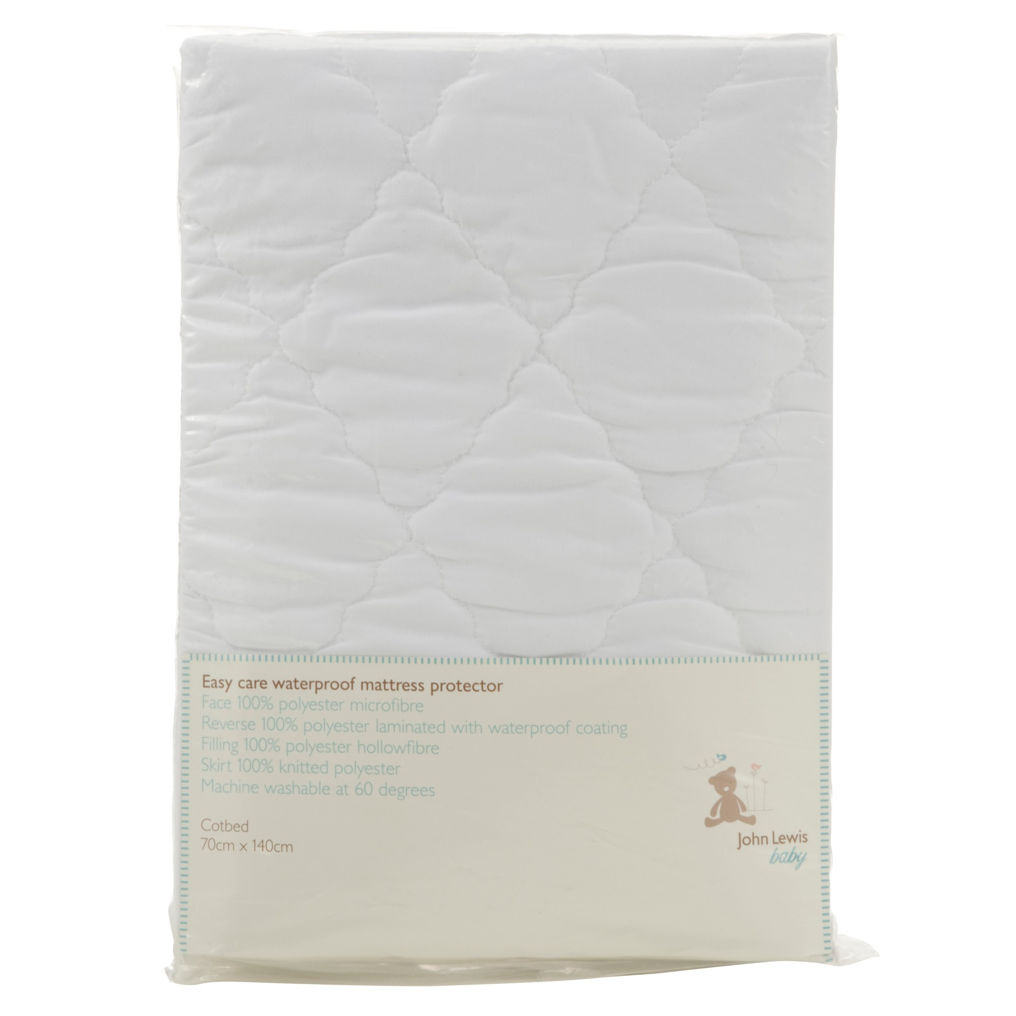 John Lewis Baby's Easy Care Waterproof Cotbed Mattress Protector