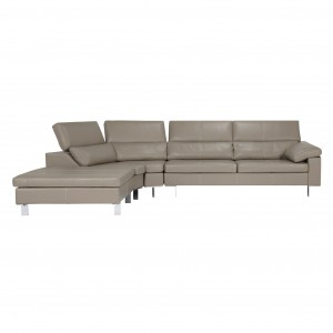 John Lewis Baccara LHF Semi-Aniline Leather Large Corner Sofa