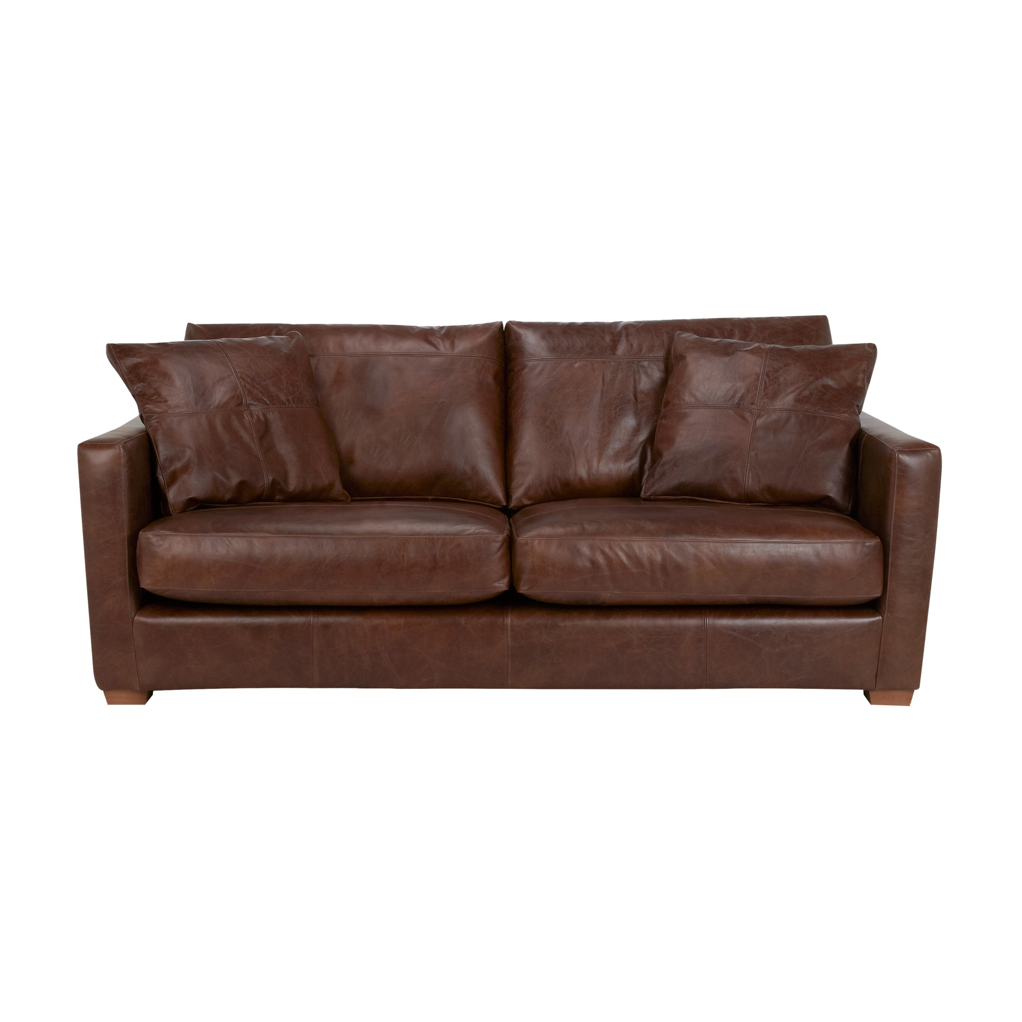John Lewis Baxter Large Leather Sofa