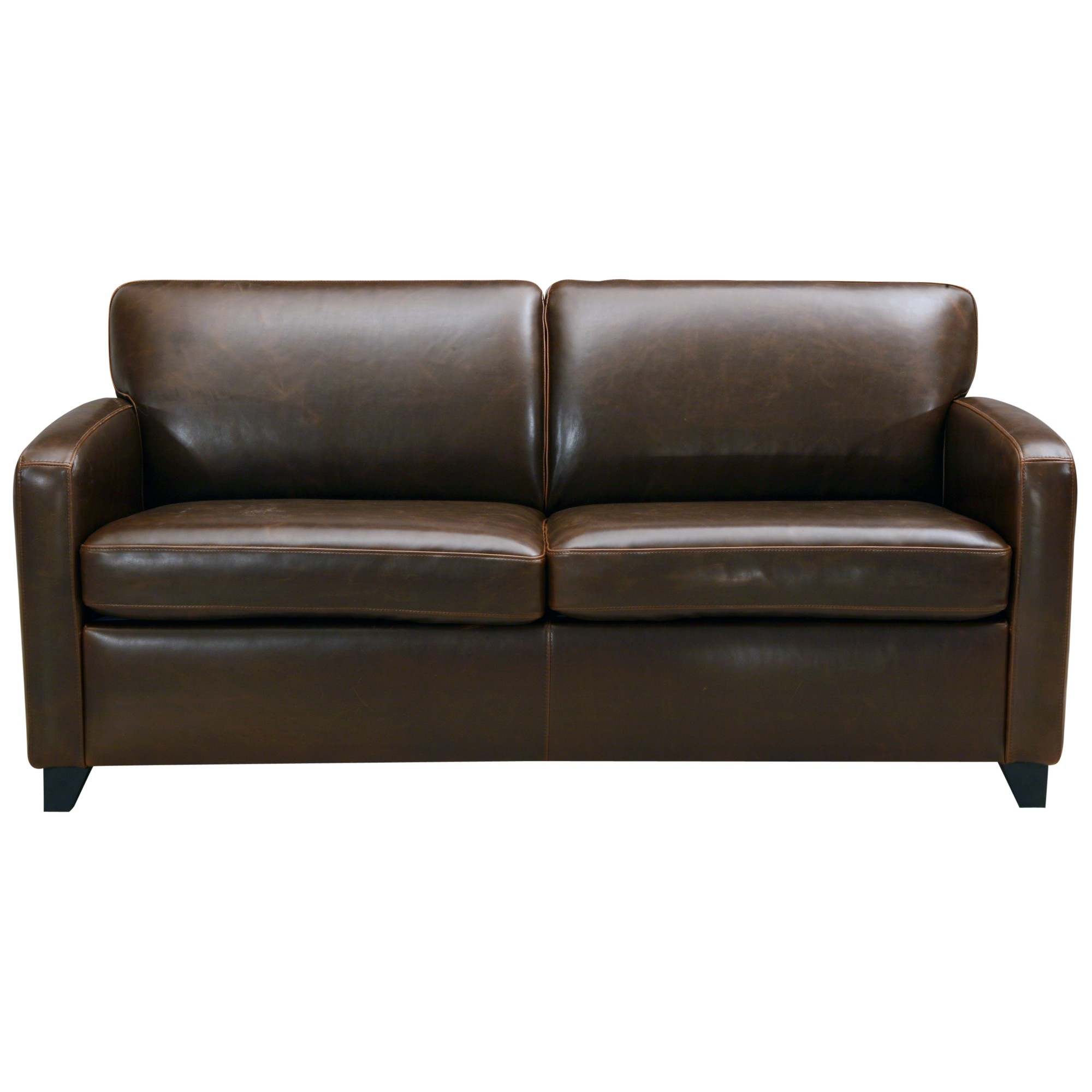 John lewis colby small pu leather sofa chocolate by john for Best place to buy a leather sofa
