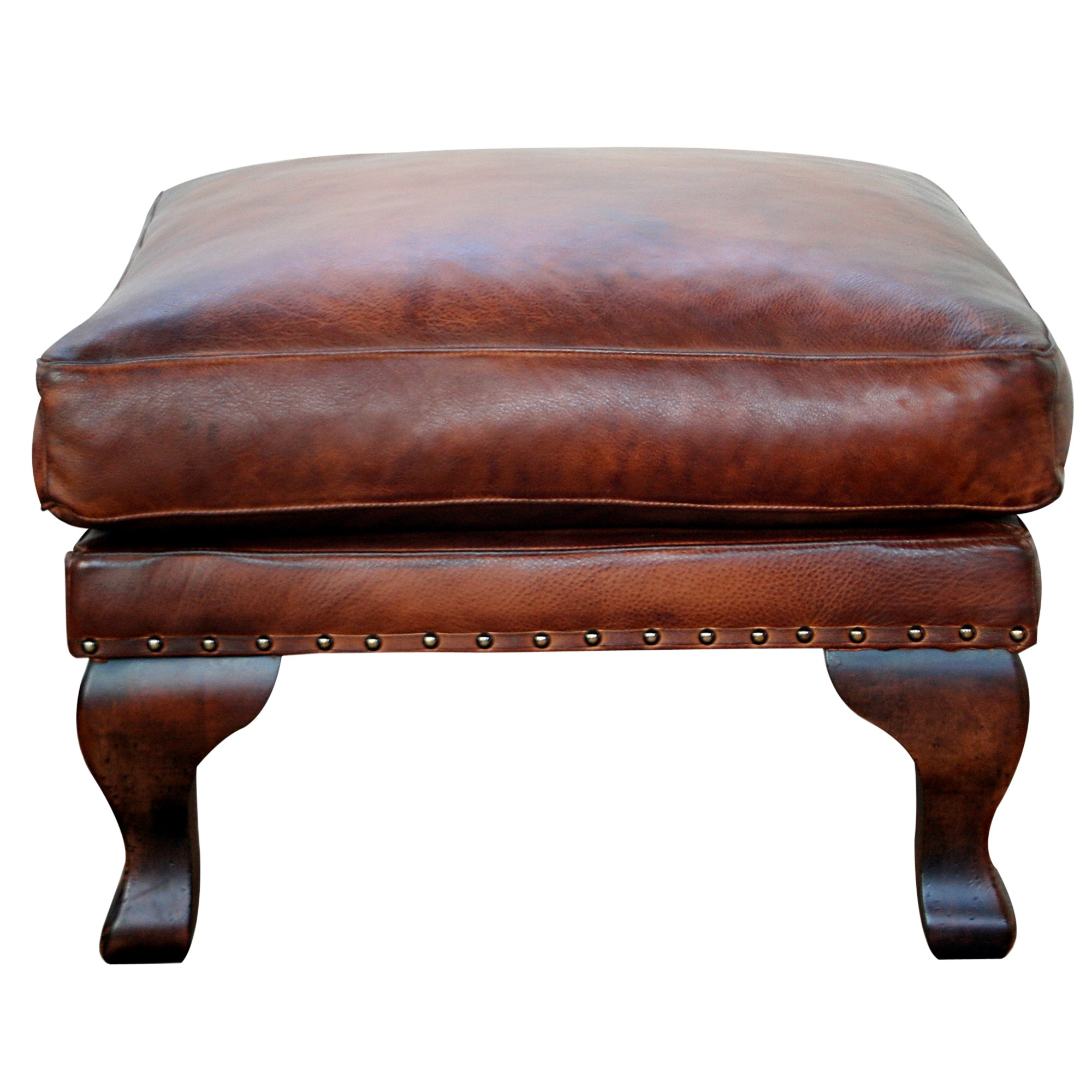 John Lewis Compton Leather Footstool Antiqued Review