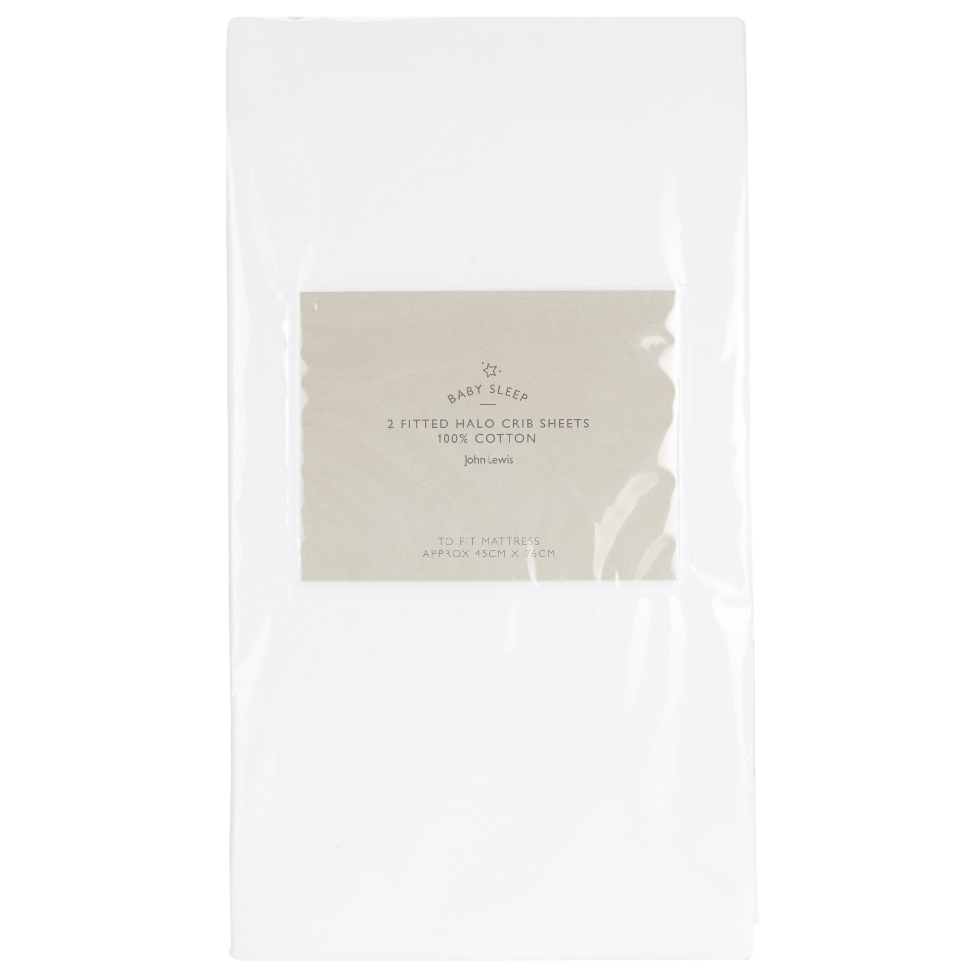 John Lewis Fitted Halo Cotton Crib Sheet