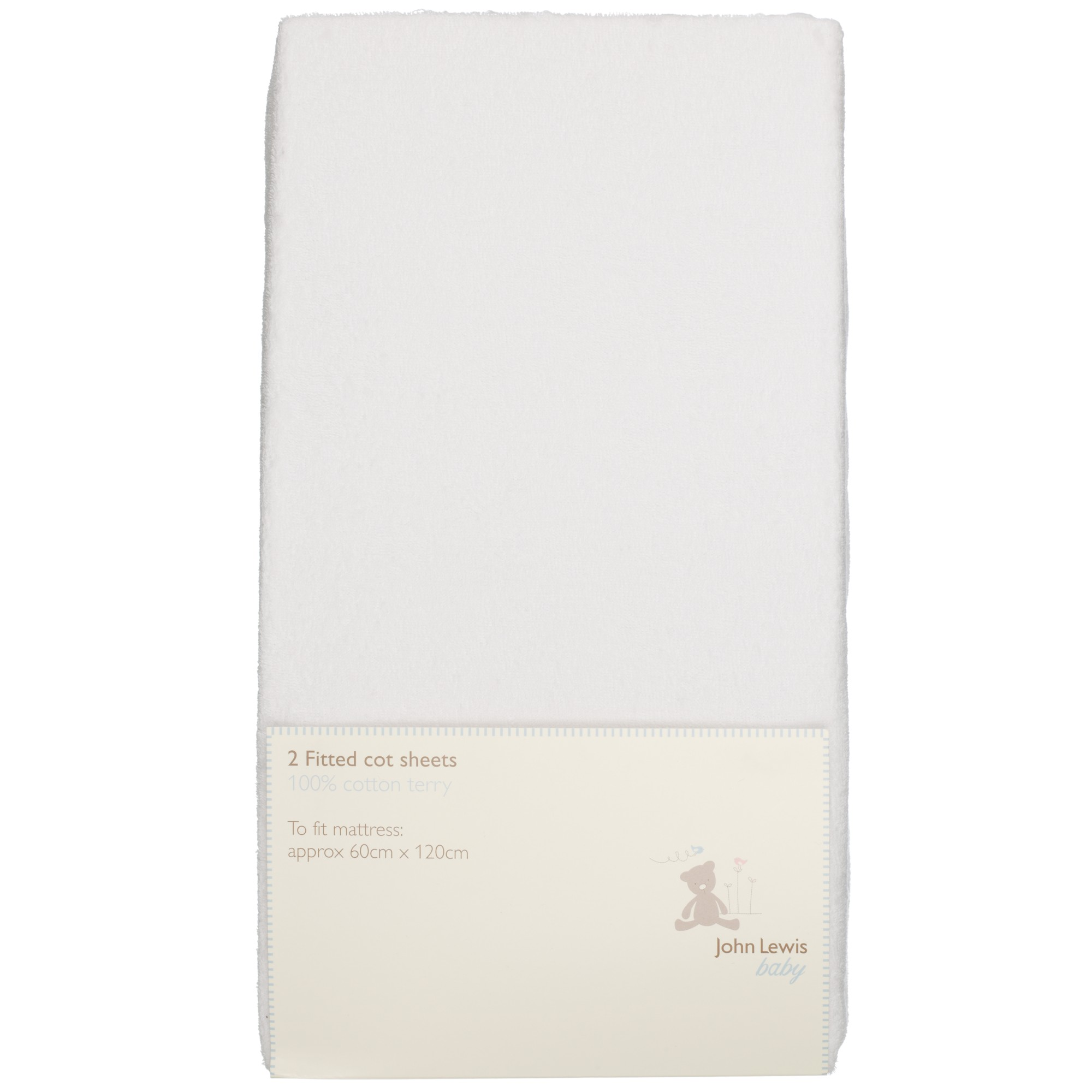 John Lewis Fitted Terry Cot Sheets