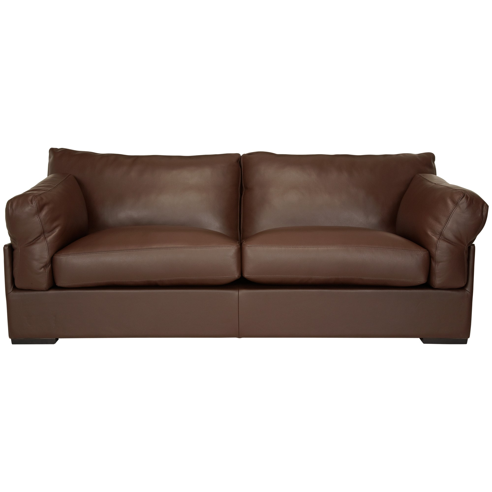John lewis java leather grand sofa nature brown review for Best place to buy a leather sofa