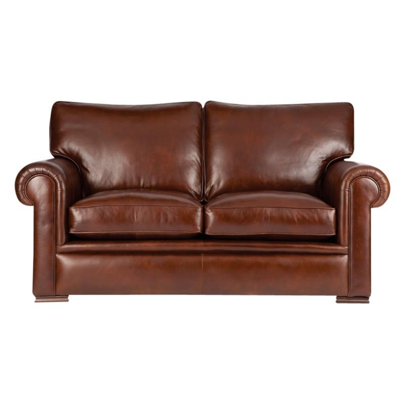 John Lewis Romsey Medium Leather Sofa with Dark Legs