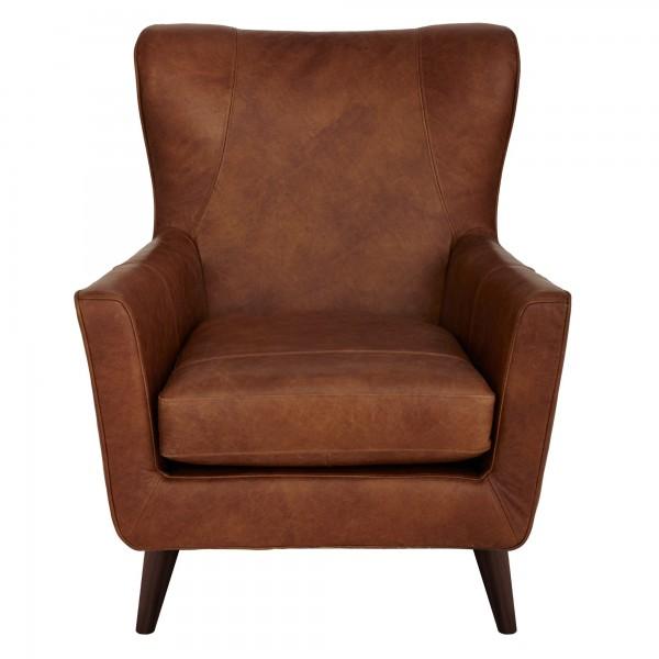 John Lewis Thomas Semi-Aniline Leather Armchair