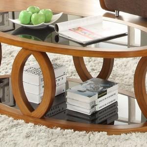 Jual Curve Walnut Coffee Table JF102 (Jual Curve Walnut Coffee Table JF102)