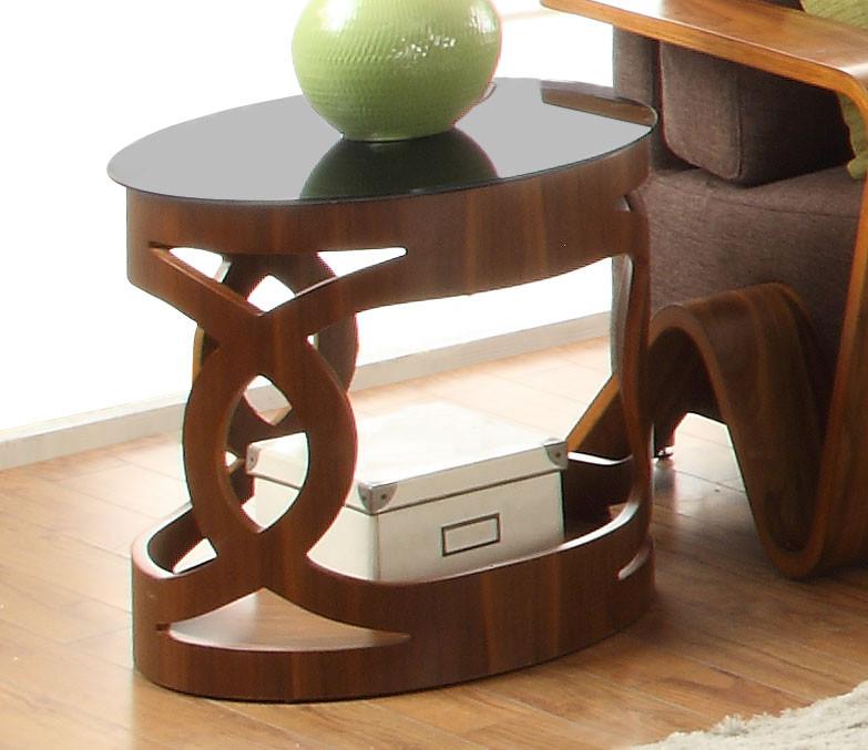 Jual Curve Walnut Lamp Table JF103 (Jual Curve Walnut Coffee Table JF103)