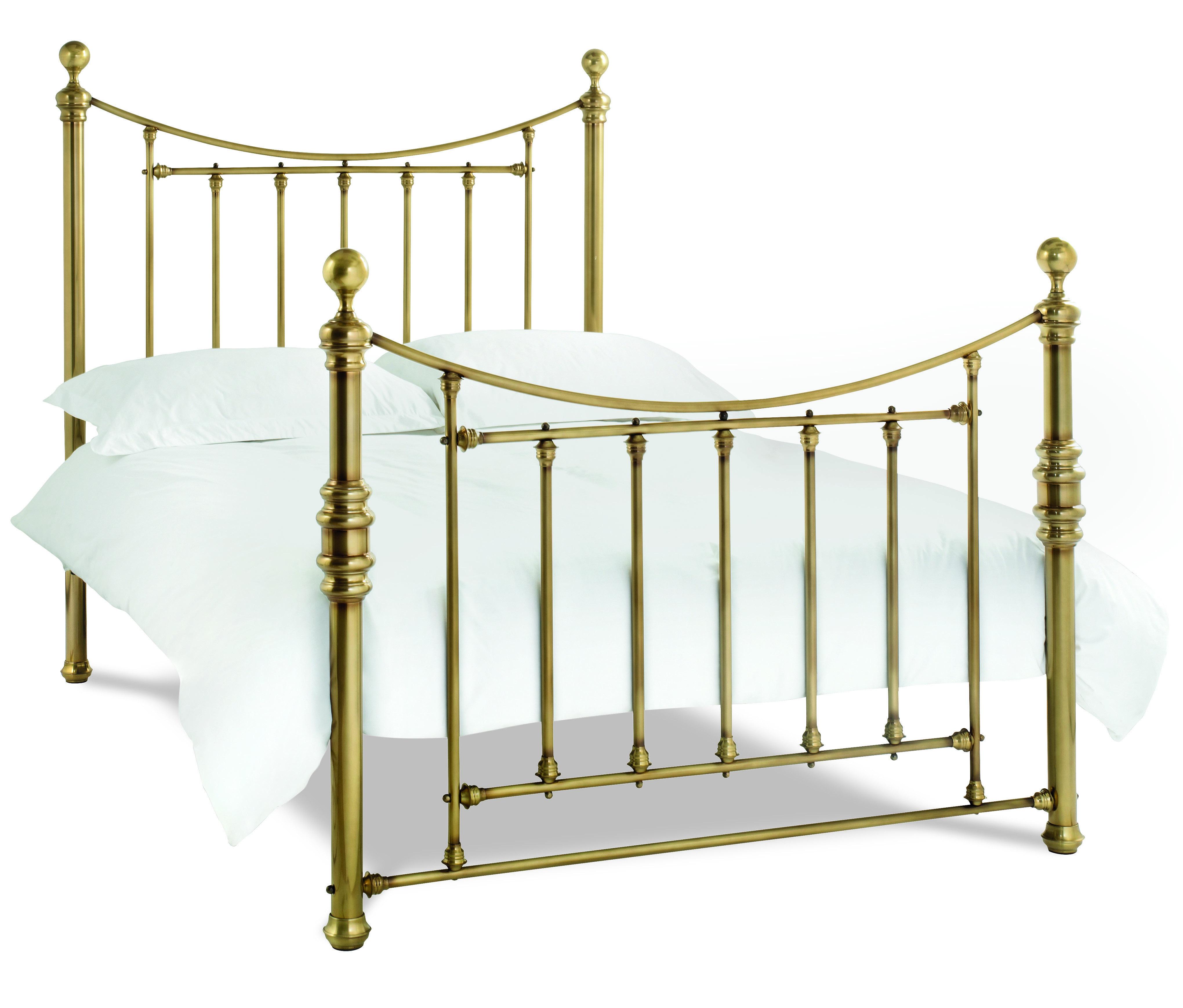 Juliette Antique Brass Bedstead - Multiple Sizes (King)