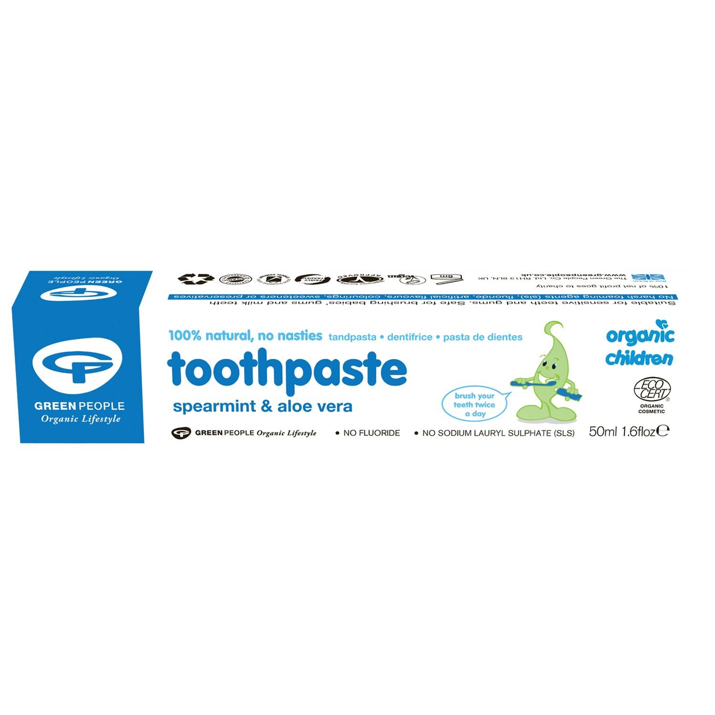 Organic Baby Spearmint and Aloe Vera Toothpaste