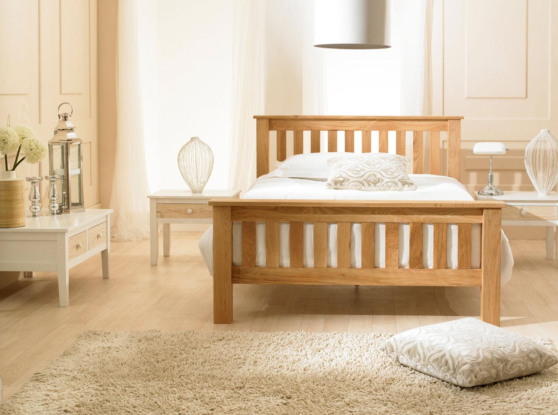 Richmond Oak Bed - (multiple sizes) (Richmond Oak King Size Bed)