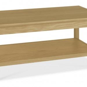 Shaker Oak Coffee Table with Shelf (Cof Table S)