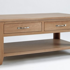 Sherwood Oak Coffee Table with 4 Drawers