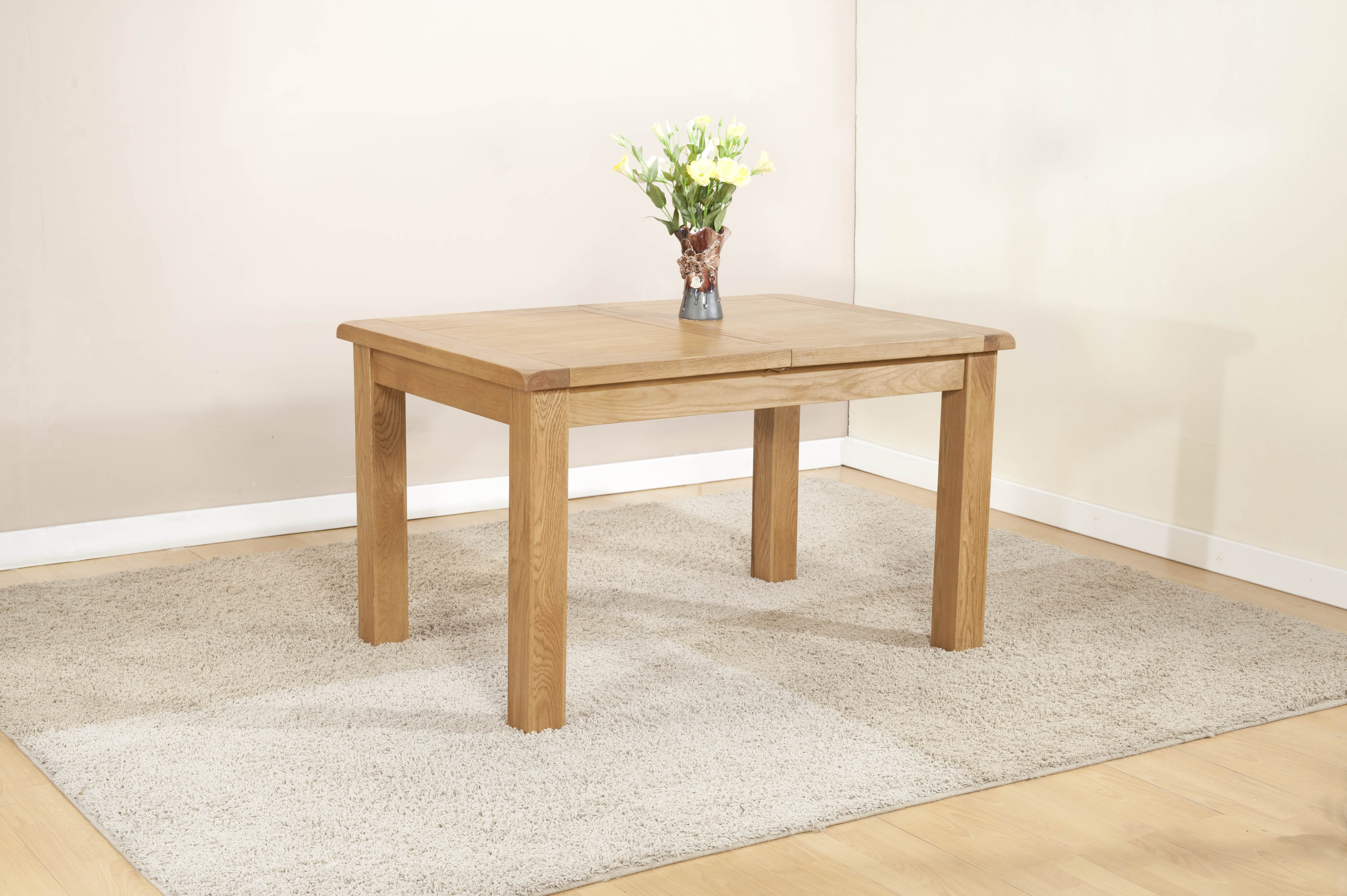 Shrewsbury Oak Extending Dining Table 1320-1980mm - Table only