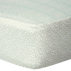 bluebellgray Rain 300 Thread Count Cotton Fitted Sheet