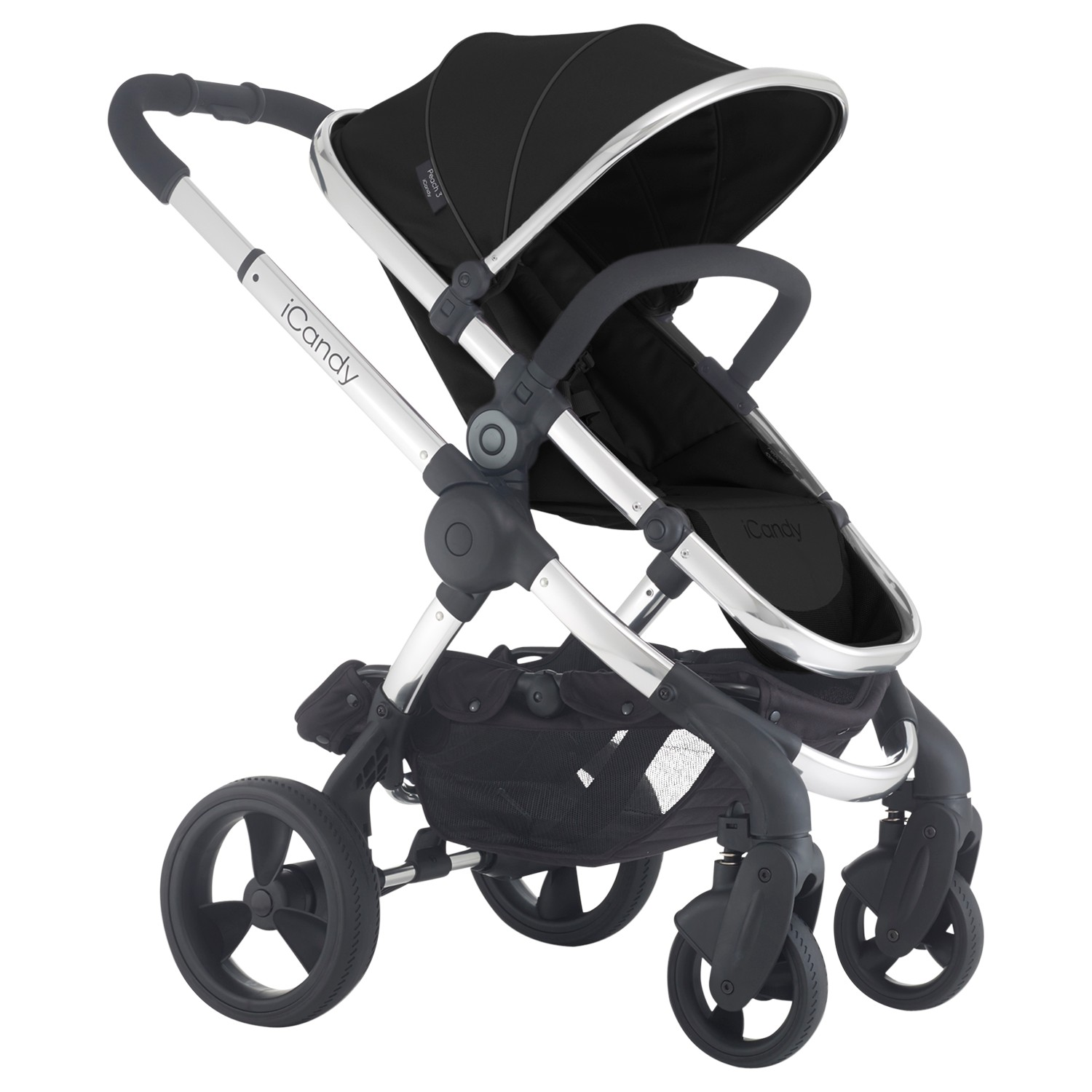 iCandy Peach 3 Pushchair with Chrome Chassis & Black Magic Hood