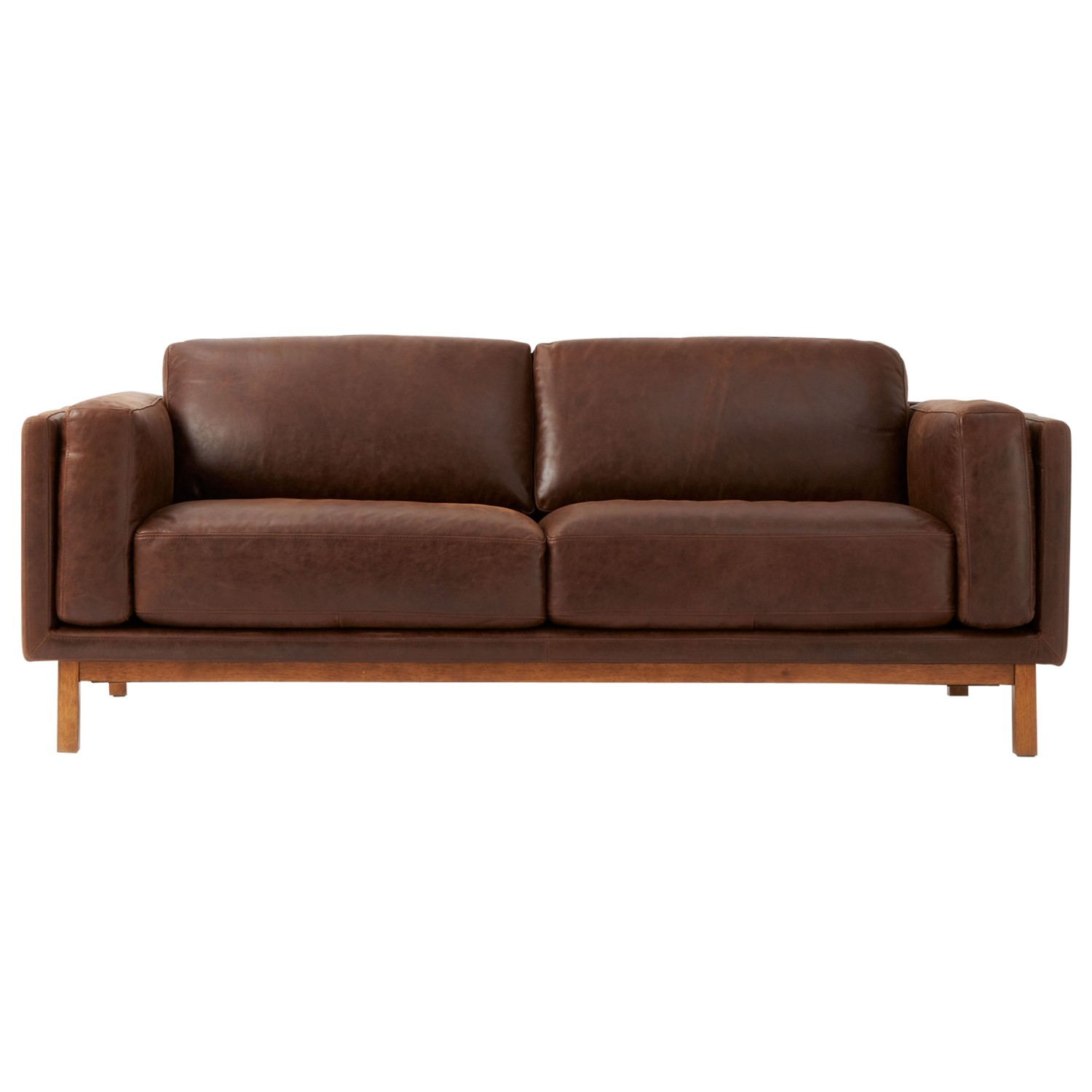 West elm dekalb aniline leather sofa molasses review for Best west elm sofa